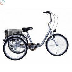 Popal E-Tricycle Silver - Stor 3-Hjulings Sykkel kr 9 888,00