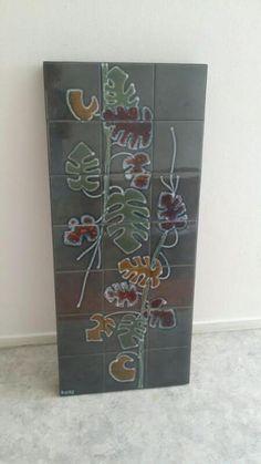 Vintage botanic tiled coffee table