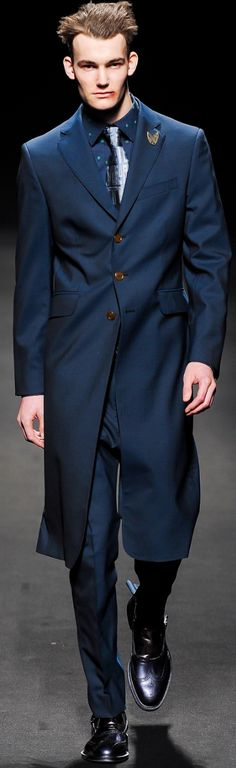 Blue. by Vivienne Westwood   mens fashion, mens style.