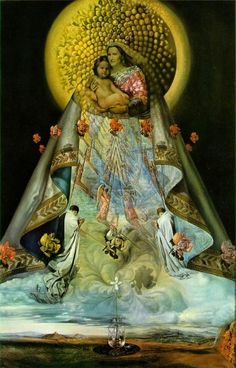 SALVADOR DALI.....PAINTING....1959....MADONNA DI GUADALUPE....ON VIRTUALMUSEO.....