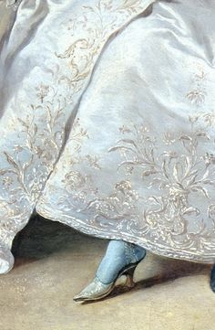 Rococo - Jean Francois De Troy: Declaration of Love, 1731 Troy, Renaissance Kunst, 18th Century Fashion, 17th Century, Old Paintings, Classical Art, Detail Art, Fabric Painting, Rococo Painting