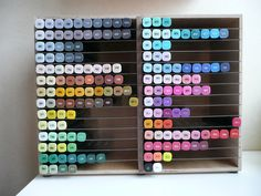Handmade storage for all my spectrum noir markers