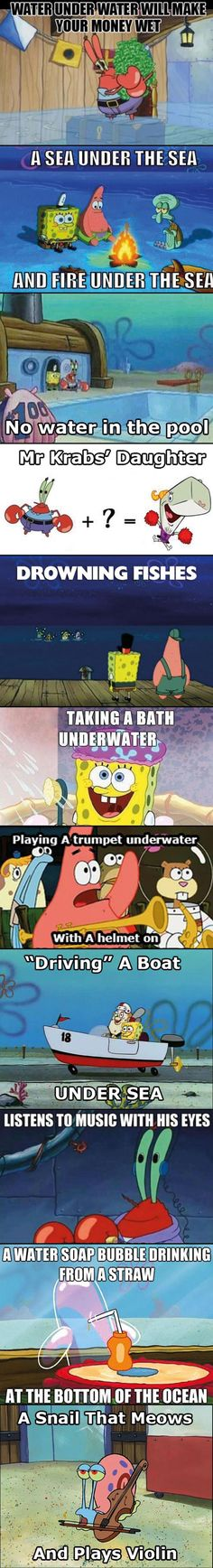 Spongebob logic #funny #lol #humor