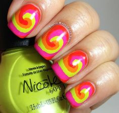 Far out! From Fierce Makeup and Nails: Nicole by OPI Tinkerbell Swirls