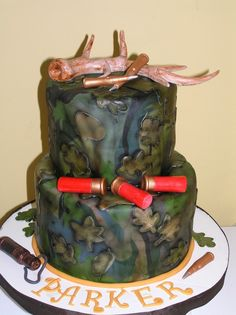 Hunting Themed Cakes | Hunting theme cake! 100% edible!