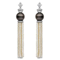 Yoko London Tahitian & Freshwater Pearl Tassel Earrings - tassels, tassels, tassels!!! clearly a favorite of mine:)