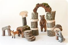 For a long time we have been admiring the rustic and natural look of Waldorf building blocks made of branches and bark, and here is my DIY tutorial on how to build a set for your children.