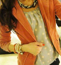 Polka dot and blazer