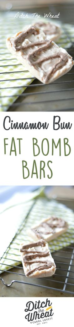 These delicious fat bomb bars are a quick and tasty way to boost your fat intake for the day! Mmmmmm Cinnamon buns :)