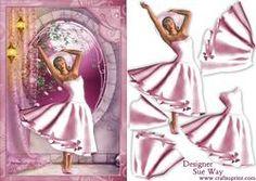 1950's Pretty in Pink Lady Decoupage