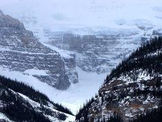 #hiking Plain of Six Glaciers past Lake Louise in Banff National Park, Alberta, Canada.