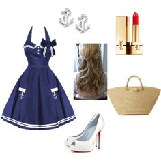 Sailor outfit!! the dress could be a little longer but lov it Sailor Outfits, Shoe Bag, Closet, Collection, Shopping, Shoes, Dresses, Design, Women