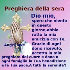 Preghiera della sera immagini bellissime da condividere Music Pics, Madonna, Catholic, Prayers, Faith, Instagram, Jesus Loves You, Dios, Mother Teresa