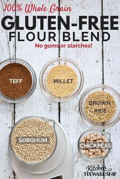 How to Make a 100% Whole Grain Gluten-free Flour Blend