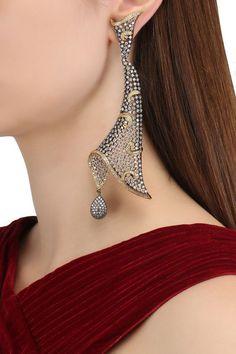 American Diamond Earrings, Victorian Earrings #earring #jewelery #jewellery #fashion