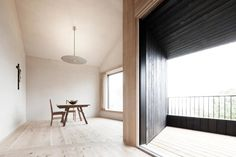 Minimalist Interior Space Of Alpine Cabin By Pedevilla Dachgeschoss