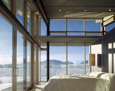 Glass Farmhouse in Northeast Oregon - Designed by Olson Kundig Architects - Bedroom