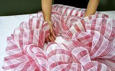 mesh ribbon wreath tutorial