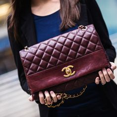 burgundy flap - Chanel Fall 2013 #bags #chanel #flap