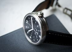 Xetum men's watch: Tyndall, black dial, black leather strap
