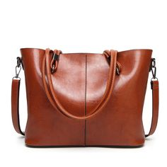 883661047379 Luggage leather new women s bag Europe and the United States simple large  capacity pu shoulder bag