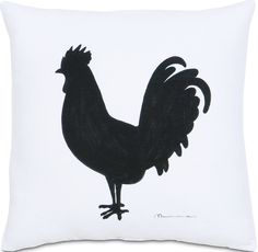 French Country - Rooster Silhouette Pillow