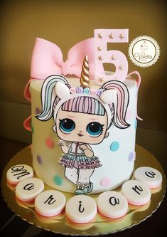 Doll Birthday Cake, Funny Birthday Cakes, Birthday Parties, Lol Doll Cake, Barbie Cake, Rodjendanske Torte, Surprise Cake, Doll Party, Lol Dolls