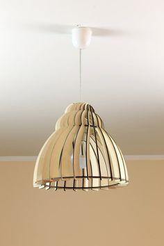 Houten plafondlamp