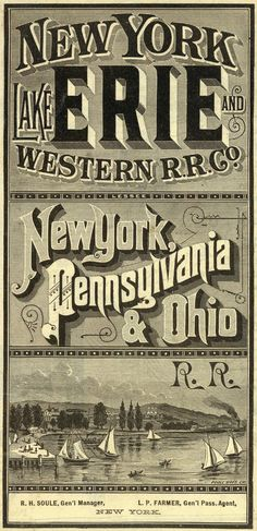 via David Rumsey Map Collection Vintage Branding, Vintage Lettering, King George, Train Posters, Railway Posters, Types Of Lettering, Lettering Design, Hand Lettering, Type Design