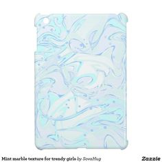 Mint marble texture for trendy girls case for the iPad mini