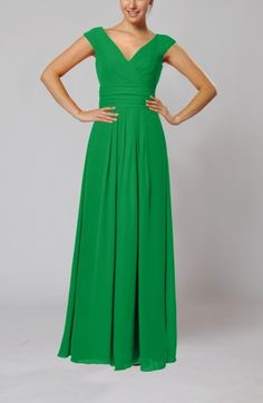 Simple Column Sleeveless Zipper Chiffon Floor Length Evening Dresses -- this is from the same vendor as the black sweetheart neckline one so it could be in the same fabric
