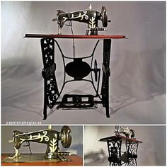 replica de maquina de coser antigua.