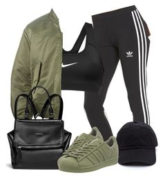 """Untitled #863"" by crazymarchbaby ❤ liked on Polyvore featuring adidas Originals, NIKE, Givenchy, adidas, women's clothing, women, female, woman, misses and juniors"