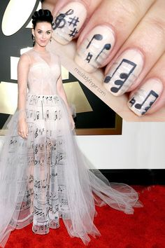 Katy Perry in Valentino Couture at Grammy's '14 #nail #nails #nailart