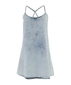 Vestido Jeans Cia. Marítima Azul Claro - cea