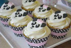 Sunny by Design: Panda Tea Party, Panda cupcake toppers Kima's Konfections Panda Cupcakes, Fun Cupcakes, Cupcake Cakes, Cupcake Toppers, Panda Birthday Cake, Tea Party Birthday, Birthday Cupcakes, Panda Bear Cake, Bolo Panda