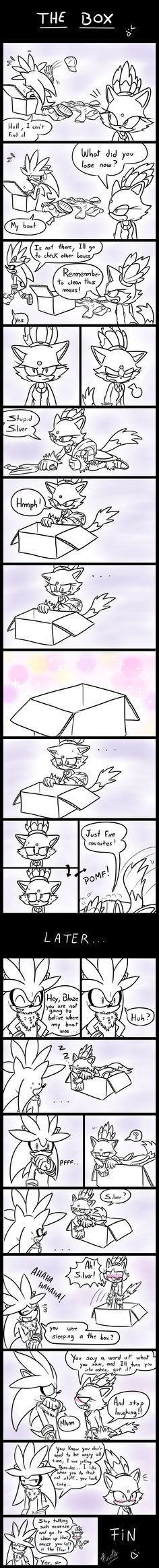 The Box - (A Silver and Blaze Comic) by Fuutachimaru on deviantART LOL X3 <3 <3