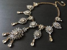 Excited to share this item from my shop: Victorian bridal necklace, party necklace, rhinestones crystals necklace, wedding necklace, statement necklace, chandelier necklace, prom #bronze #wedding #victorian #blingglam #weddingjewelry #forbrides #weddingaccessories Bridal Necklace, Crystal Necklace, Crystal Rhinestone, Wedding Accessories, Wedding Jewelry, Vintage Fashion, Vintage Style, Rhinestones, Bronze Wedding
