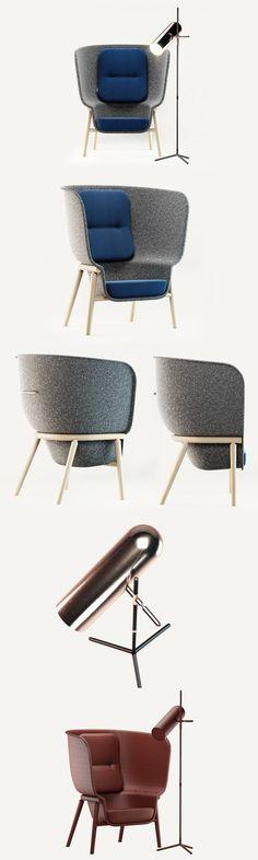 DeVorm Pod PET Felt Privacy Chair. 3D Furniture