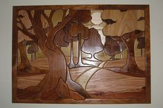 dad's walk in the woods intarsia