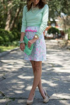 Haley from Sequins & things wearing Lilly Pulitzer Spring '13- Lowe Dress in Pop