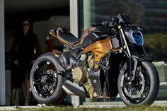 Ducati Panigale custom by Officine GP Design Custom Motorcycles, Custom Bikes, Ducati Motor, Ducati Diavel, Cafe Racer Magazine, Vintage Cafe Racer, Cafe Racer Honda, Hot Bikes, Bike Art