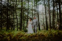 fall forest rustic wedding bride groom