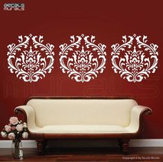 Wall Decal DAMASK decals wallpaper stickers by by decalsmurals, $69.00