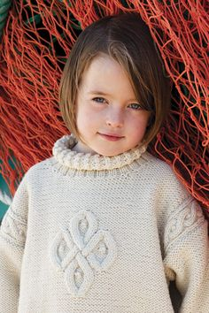 Sigil design from Aran Knitting by Alice Starmore in Bainin Knitting Books, Cotton Thread, Wool Yarn, Simple Designs, Underarm, Turtle Neck, Pure Products, Children, Pattern