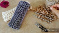 Banda/Diadema en Punto Flecha a Crochet, Hearband