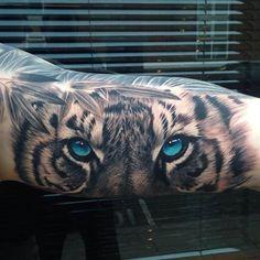 Realistic tiger by Blondan (Harlow Essex UK) Instagram @blondan Facebook http://ift.tt/1SmpGBP
