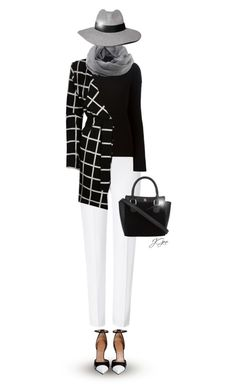 """""""River Island Black Check Jersey Belted Jacket"""" by jgee67 ❤ liked on Polyvore featuring ESCADA, Helmut Lang, River Island, Givenchy, Coal and Abercrombie & Fitch"""