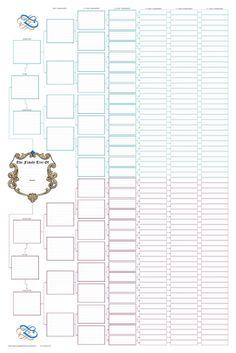 Ancestor Pedigree Chart | Blank family tree charts - Family Tree Books and Charts