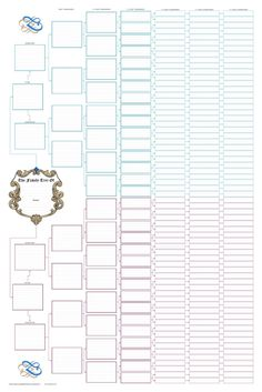 Family Tree Lesson Plans: Large tree templates for